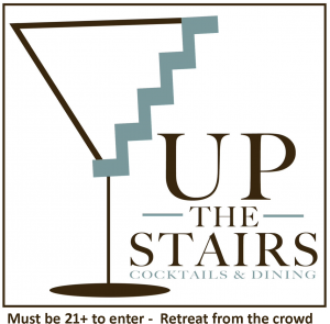 Up the Stairs Logo with text